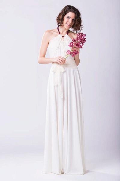 Convertible Lace Floor Length Sheath Wedding Dress_1
