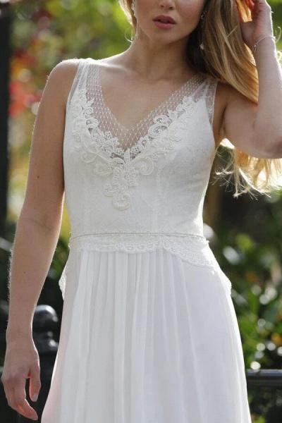 Latest Elegant Lace Chiffon A-line Wedding Dress_4