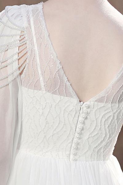 Eye-catching Beading Chiffon A-line Wedding Dress_13