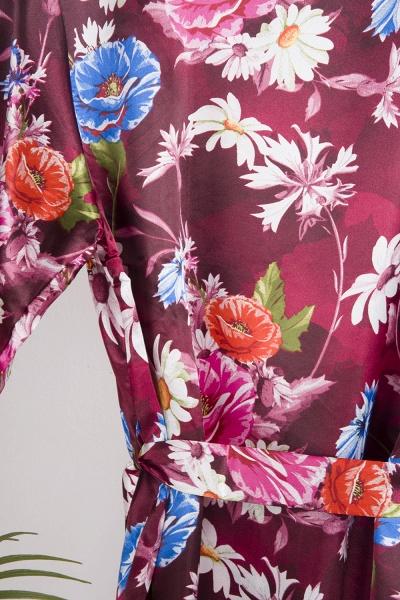 Short Sleeve Floral Print Bridesmaid Bridal Robes_20