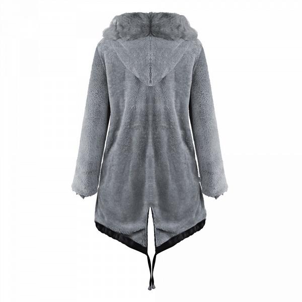 Winter Faux Fur-trimmed Long-length Overcoat_35