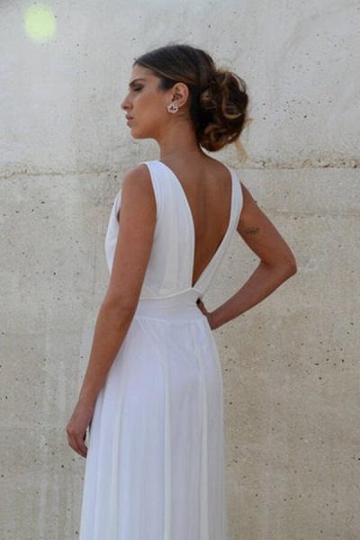 Graceful Empire Waist Tulle Sheath Wedding Dress_5