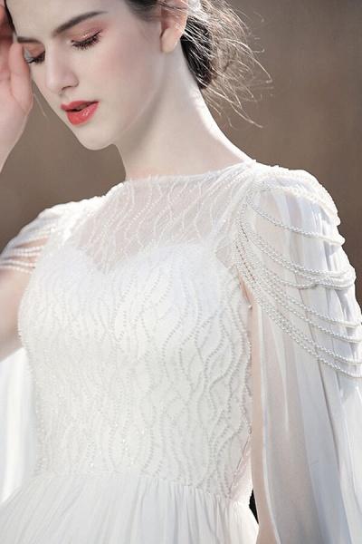 Eye-catching Beading Chiffon A-line Wedding Dress_10