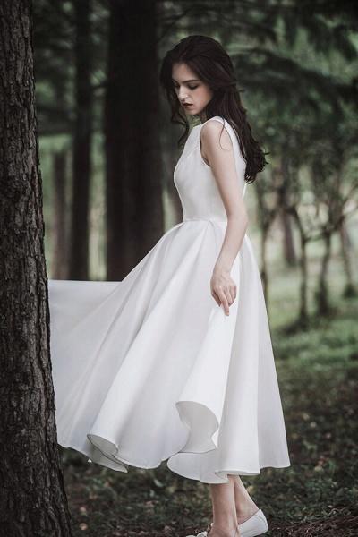 Graceful Satin A-line Wedding Dress_6
