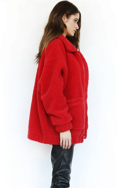 Winter Fashion Going out Basic Regular Faux Fur Coat_39