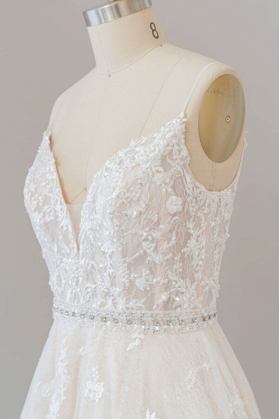 Awesome Appliques A-line Tulle Wedding Dress_7