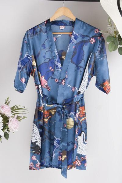 Casual Pattern Bridesmaid Bridal Robes_15
