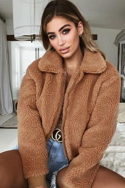 Daily Basic Fashion Winter Regular Faux Fur Coats_7