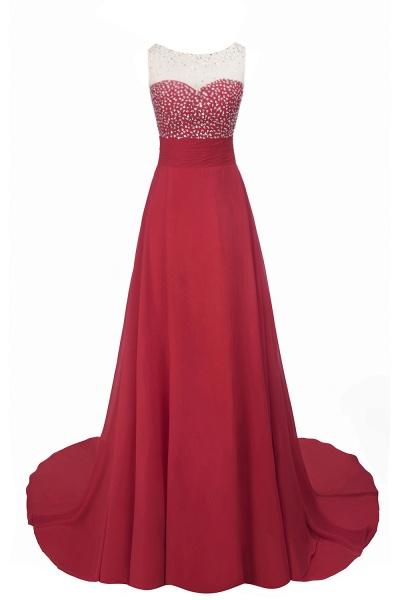 Beautiful Jewel Chiffon A-line Evening Dress_7