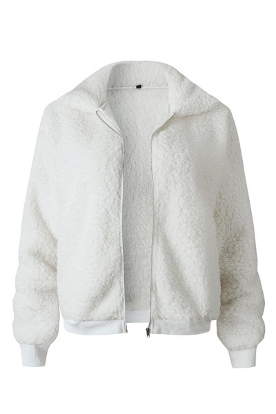 Daily Basic Fashion Winter Regular Faux Fur Coats_1