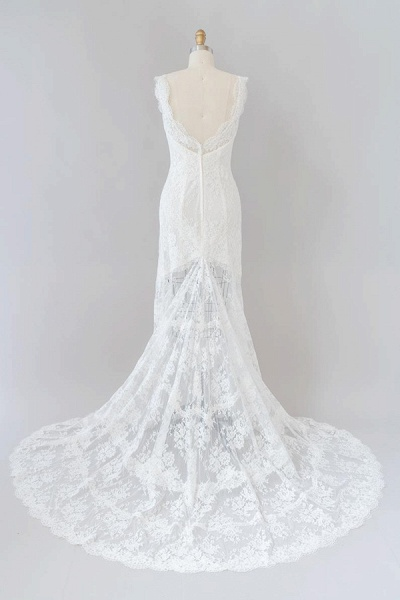 Eye-catching Sweetheart Lace Mermaid Wedding Dress_3