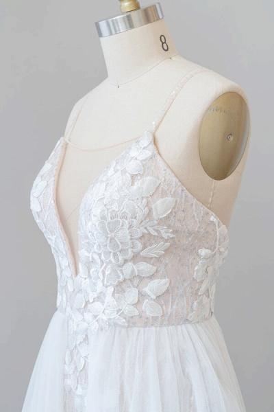 Amazing Chapel Train Appliques Tulle Wedding Dress_6