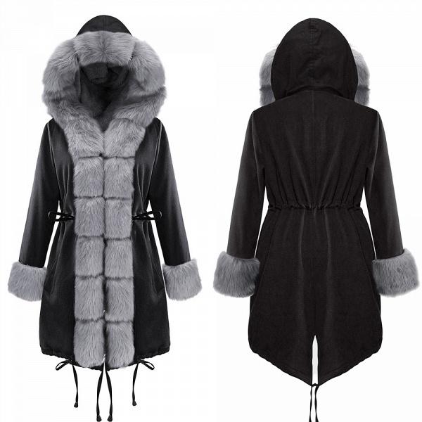 Winter Faux Fur-trimmed Long-length Overcoat_11