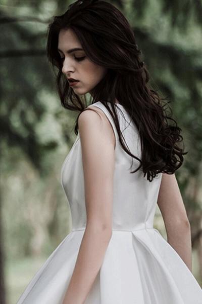 Graceful Satin A-line Wedding Dress_14