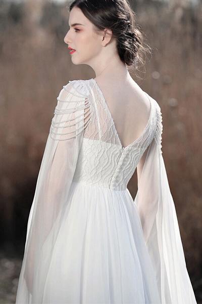 Eye-catching Beading Chiffon A-line Wedding Dress_7