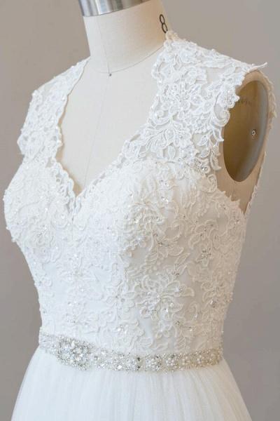 Amazing Beading Lace Tulle A-line Wedding Dress_8