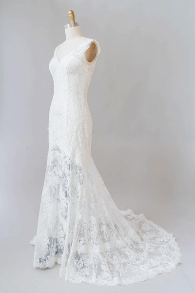Eye-catching Sweetheart Lace Mermaid Wedding Dress_4