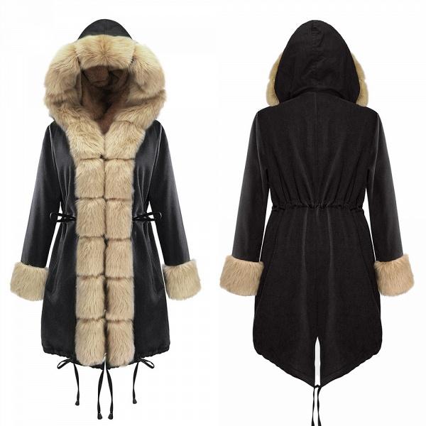Winter Faux Fur-trimmed Long-length Overcoat_14