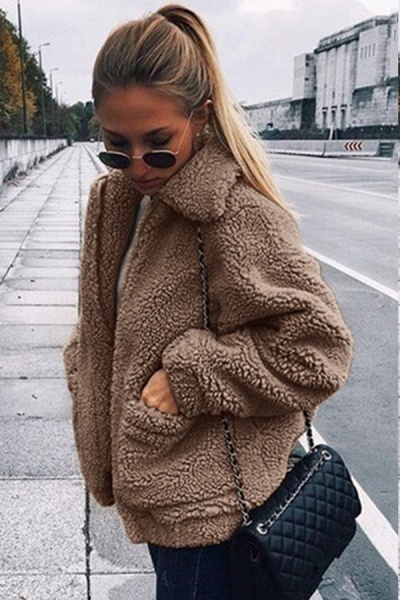 Winter Fashion Going out Basic Regular Faux Fur Coat_16