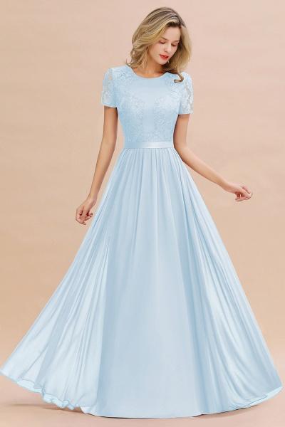 BM0831 Chiffon Lace Scoop Short Sleeve Bridesmaid Dress_23