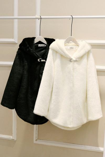 Hooded Daily Basic Club Faux Fur Coat_21
