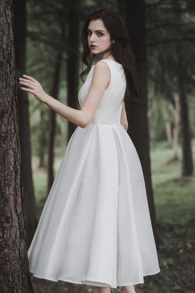 Graceful Satin A-line Wedding Dress_3