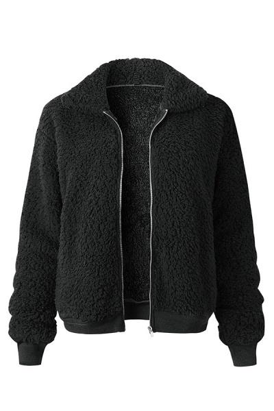 Daily Basic Fashion Winter Regular Faux Fur Coats_3
