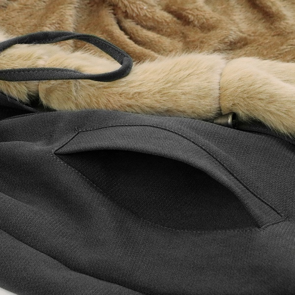 Winter Faux Fur-trimmed Long-length Overcoat_51