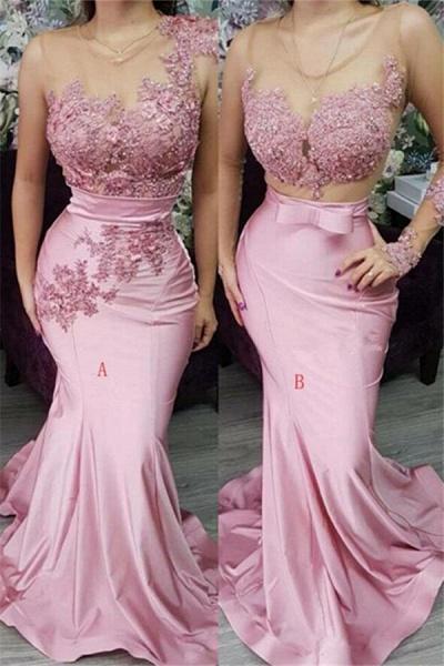 Appliques Lace Mermaid Evening Dresses_1