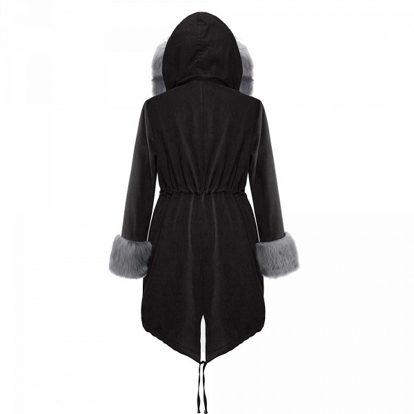 Winter Faux Fur-trimmed Long-length Overcoat_32