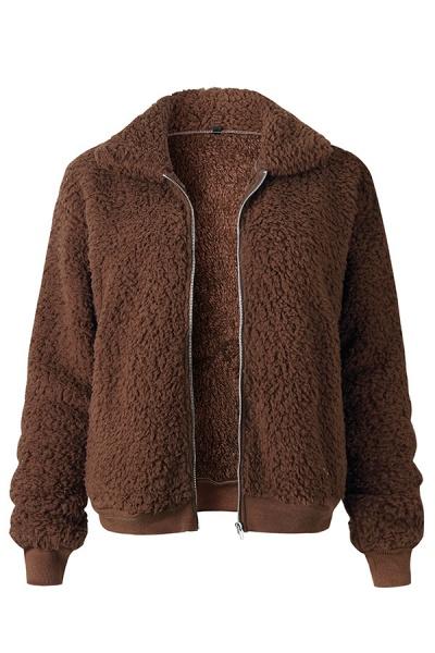 Daily Basic Fashion Winter Regular Faux Fur Coats_6