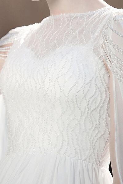 Eye-catching Beading Chiffon A-line Wedding Dress_11