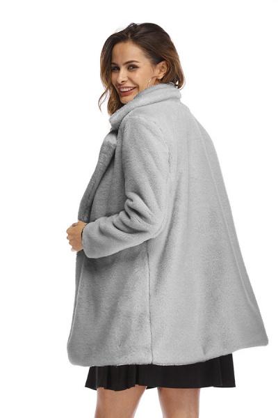 Winter Daily Regular Stand Long Faux Fur Coats_8