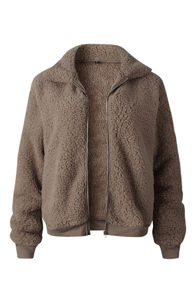 Daily Basic Fashion Winter Regular Faux Fur Coats_2