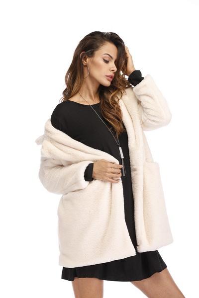 Winter Daily Regular Stand Long Faux Fur Coats_41