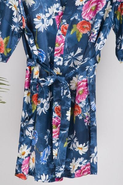 Short Sleeve Floral Print Bridesmaid Bridal Robes_19