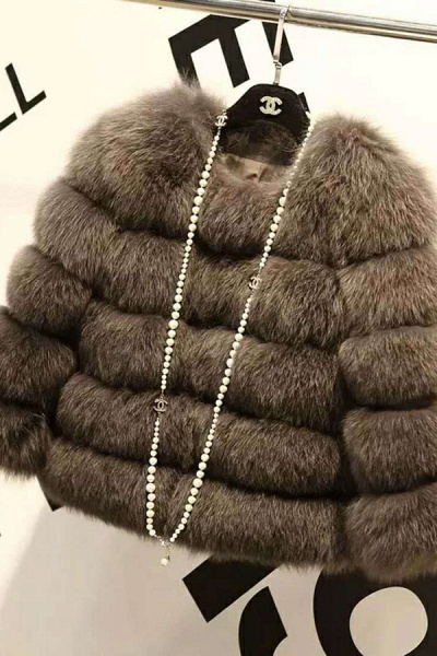 Women's Daily Party Long Faux Fur Coats_9