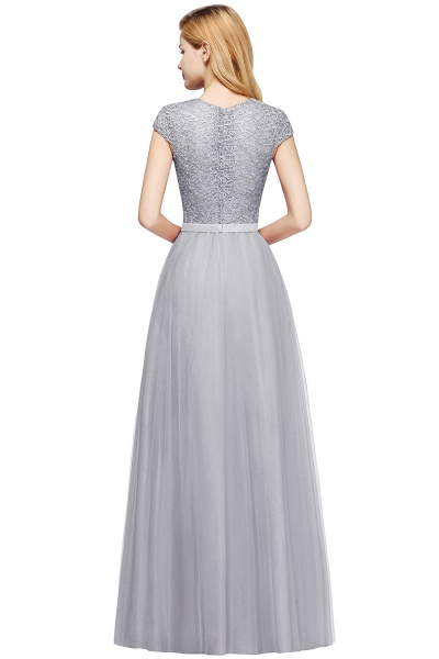 Graceful Jewel Tulle A-line Evening Dress_24