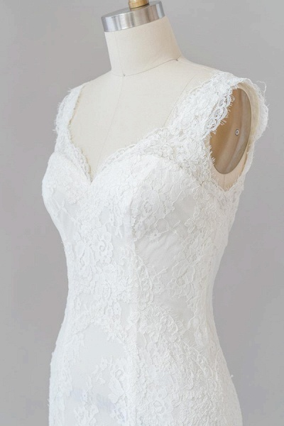 Eye-catching Sweetheart Lace Mermaid Wedding Dress_6
