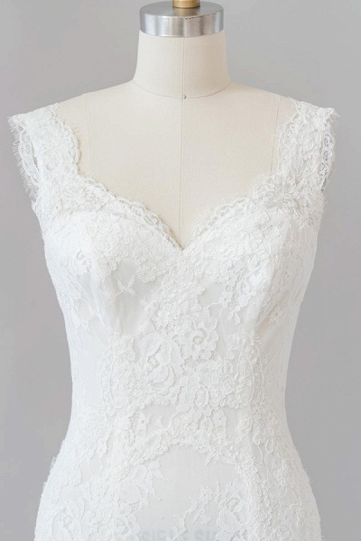Eye-catching Sweetheart Lace Mermaid Wedding Dress_7