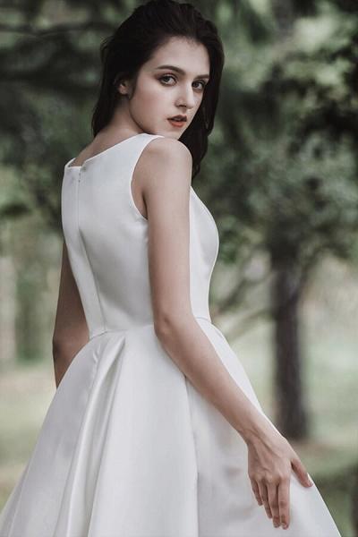 Graceful Satin A-line Wedding Dress_12