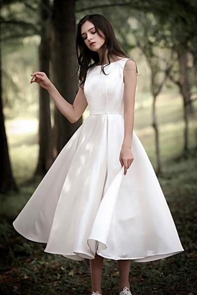 Graceful Satin A-line Wedding Dress_5