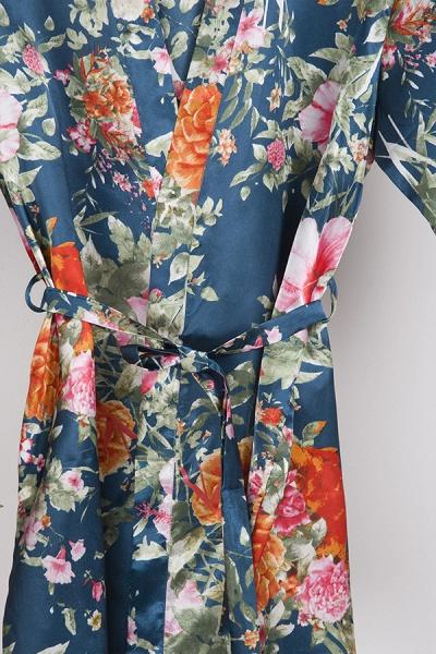 Short Sleeve Floral Print Bridesmaid Bridal Robes_28