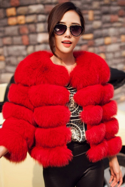 Women's Daily Party Long Faux Fur Coats_21