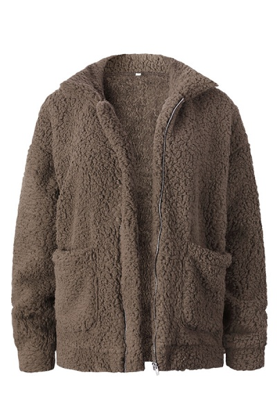 Winter Fashion Going out Basic Regular Faux Fur Coat_4