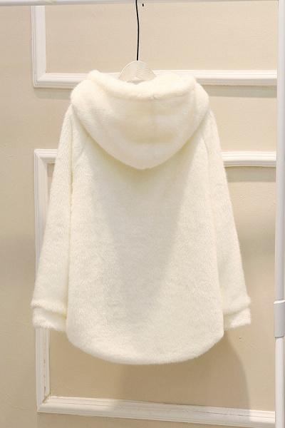 Hooded Daily Basic Club Faux Fur Coat_17
