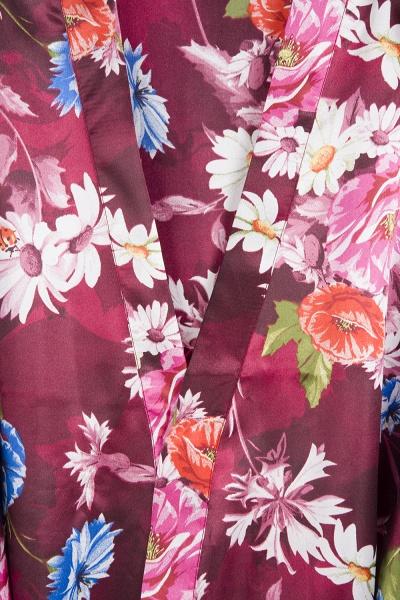 Short Sleeve Floral Print Bridesmaid Bridal Robes_18
