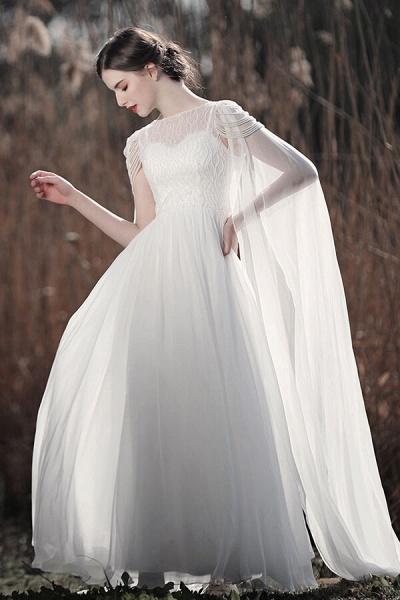 Eye-catching Beading Chiffon A-line Wedding Dress_4