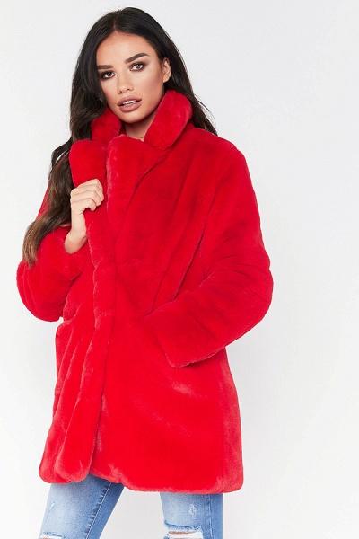 Winter Daily Regular Stand Long Faux Fur Coats_25