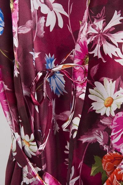 Short Sleeve Floral Print Bridesmaid Bridal Robes_17